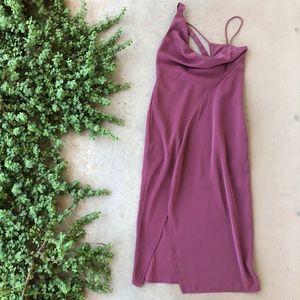 Keepsake the Label Mauve Asymmetrical Midi Dress